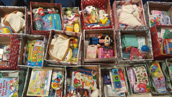 Donation of boxes to Home Start Wellingborough from Express Exhibition Displays