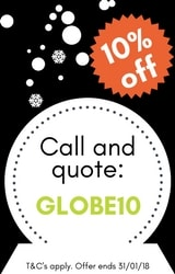 10% off your next order using code: GLOBE10
