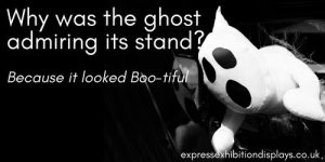 Why was the ghost admiring its stand? Because it looked Boo-tiful