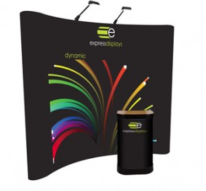 Dynamic 3x3 Pop-up display stand