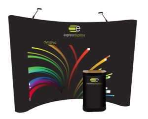 Dynamic 4x3 Pop-up display stand