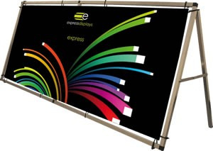 Express large A frame outdoor banner