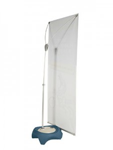 Fleet single sided outdoor banner stand Back