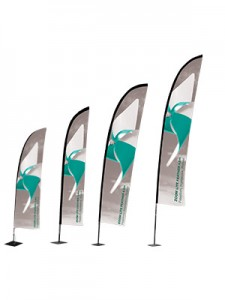 Zip feather outdoor flag Medium