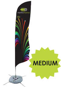 Zip feather outdoor flag - Medium