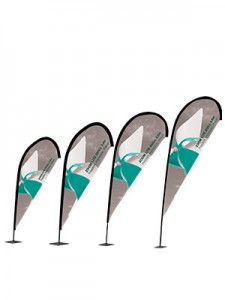 Zip Teardrop Outdoor Flag Large