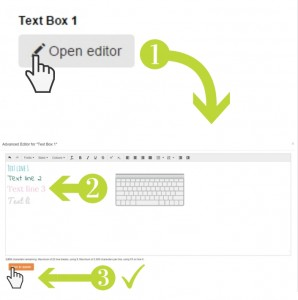 How to open the text editor