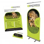 Leaflet bundle - banner stand, leaflet and business card