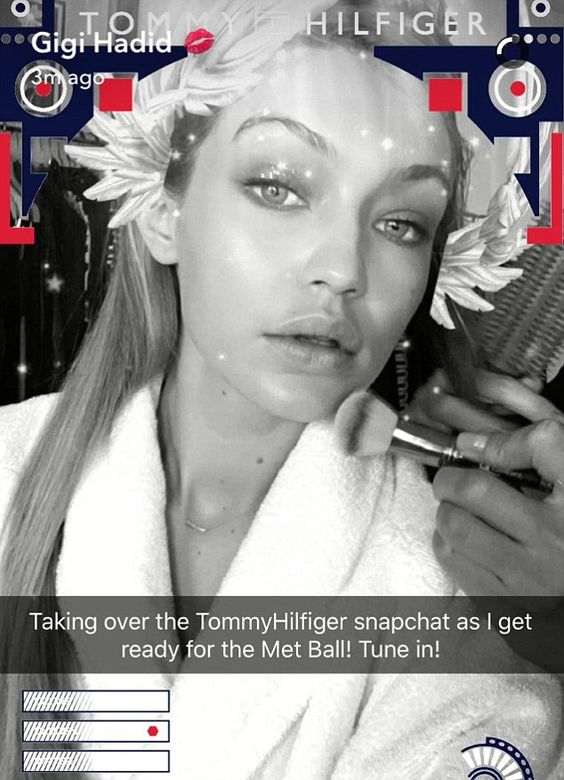 Gigi Hadid taking over Tommy Hilfiger Snapchat account