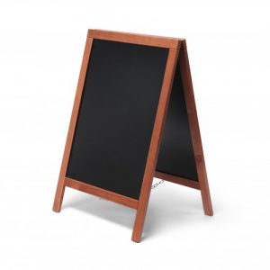 Chalkboard with light brown frame