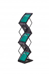 Double Sided 5 Pocket Literature Stand