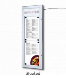 2x A4 Illuminated Menu Box Stacked