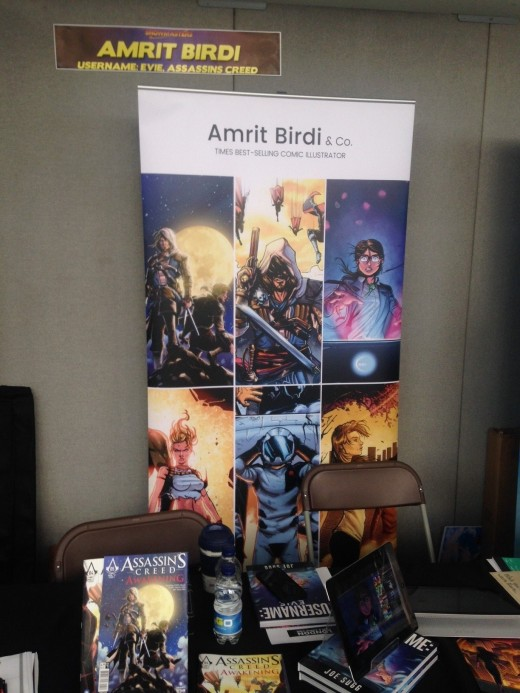 Example banner stand from London Film & Comic Con 2017