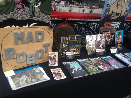 Table display at London Film & Comic Con 2017