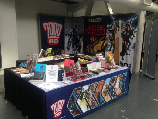 Display stand at London Film & Comic Con 2017