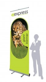 Large sized roller banner stand