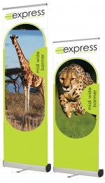 Narrow sized roller banner stand