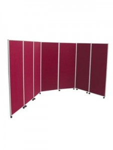 Wheeled Folding Panel Screen Open