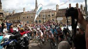 Oundle women's tour of british cycling flags