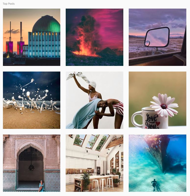 Top posts on Instagram for photography 19/04/18