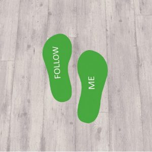 Footprint stickers follow me