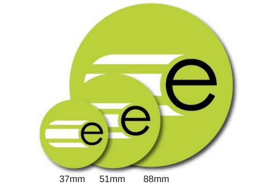 51mm circle custom stickers · circle measurements