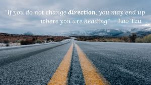 """Productivity Quote: """"If you do not change direction, you may end up where you are heading"""""""