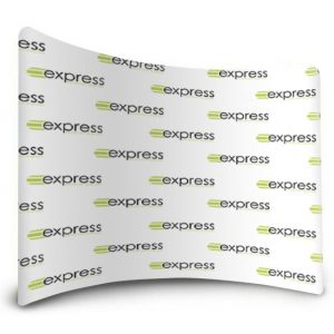Step and Repeat Curved Fabric Display