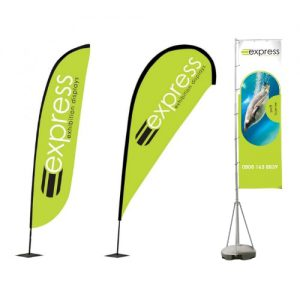 Printed graphics for advertising flags