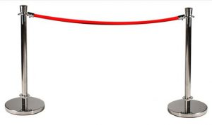 Queue Barrier Rope and Pole System Silver