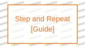 Step and repeat guide