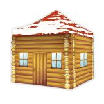 Printed Christmas Gazebo - with canopy and walls
