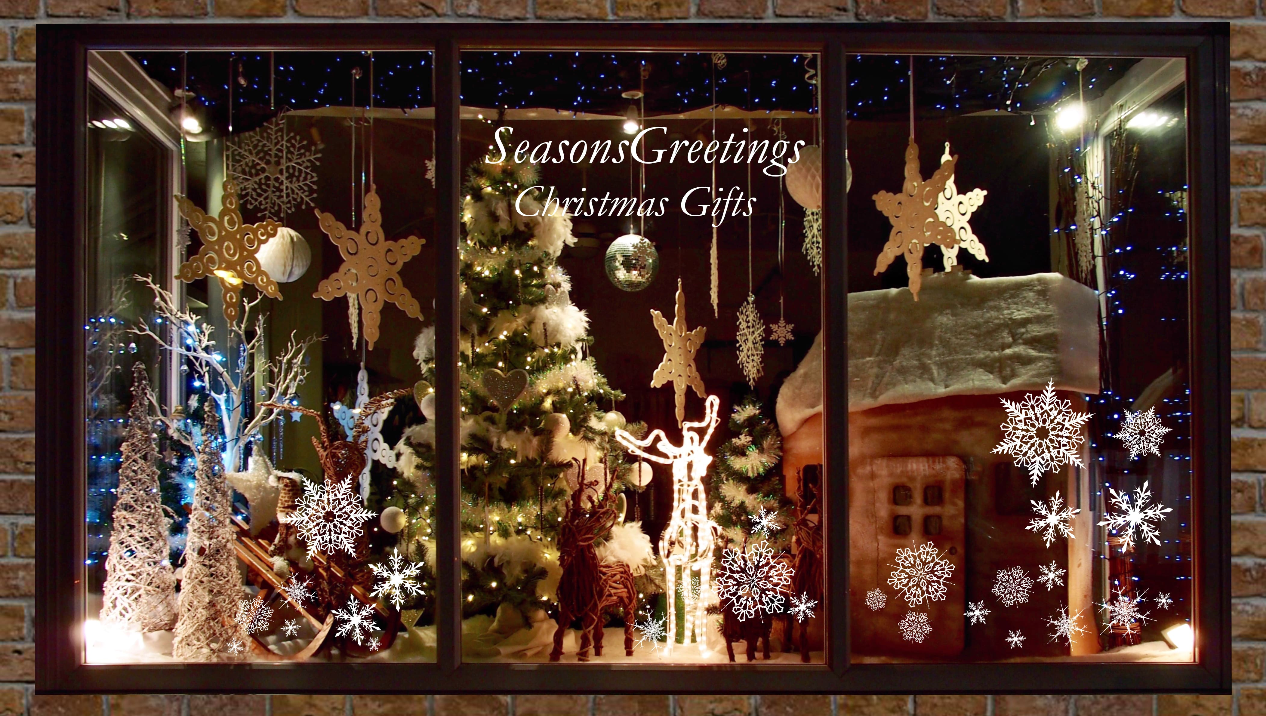 Clear Self-Adhesive Christmas Shop Window Stickers | EED