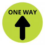 One Way Floor Sticker